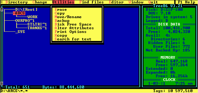FREE SOFTWARE FOR DOS — File Managers – 1